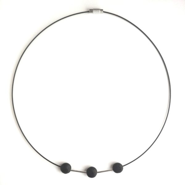 Icelandic lava stone necklace ATELIER ALEGRE